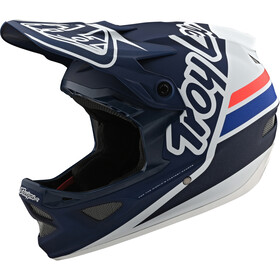 Troy Lee Designs D3 Fiberlite Helm silhouette white/navy